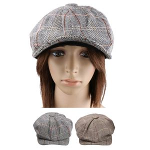 2x Herren Damen Retro Baker Boy Mütze Zeitungsjunge Tweed Country Golf Baskenmütze Cap