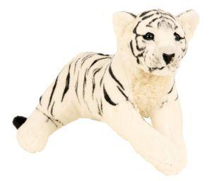 Tiger Weiss XL Plüschtier ca. 60 cm liegend Kuscheltier Softtier