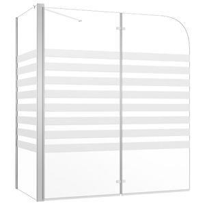 vidaXL Duschabtrennung 120x68x130 cm Hartglas Streifen