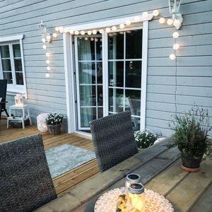 Darmowade-LED Outdoor Lichterkette Solar Outdoor 5m 20 Laterne IP44 wasserdichte Dekoration Solar / batteriebetriebene Gartenterrasse Balkon