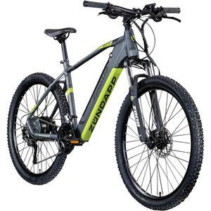 Zündapp Z808 650B E-Mountainbike E-Bike EMTB Hardtail 27,5 Zoll Pedelec Fahrrad Elektrofahrrad, Farbe:schwarz/grün, Rahmengröße:48 cm