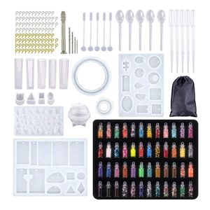 148 teile/satz epoxidharz gießen silikon form kit schmuck herstellung anhänger wie gezeigt 184 Stück (Pailletten)
