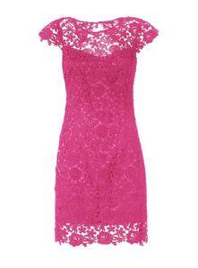 Guess Damen Marken-Spitzenkleid, pink, Größe:XS