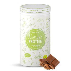 EIWEIßPULVER ohne Süßungsmittel Schokolade 500g - natürliches Proteinpulver ohne Gluten, Zucker & Whey - Schoko Eiweiß - Natures Protein Pulver - vegan - laktosefrei
