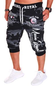 Jaylvis Herren Short Shorts Bermuda Kurze Hose Steetwear 3/4 Camouflage Stretch B.3484