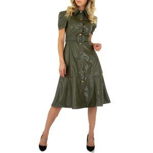 Ital-Design Damen Kleider Cocktail- & Partykleider Khaki Gr.l