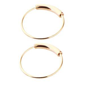 2pcs Nasenring Nasenbügel Tragus Helix Ohr Piercing Stahlring 6mm Rose Gold Nasenringe 6mm Roségold Rose Gold + Silber
