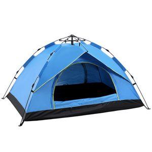 2 Personen Outdoor Camping Zelt Outdoor Klettern Campingzelte 200x150x130 cm, Blau