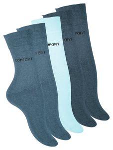 VCA® Baumwoll-Socken 10 Paar Blautöne 39-42