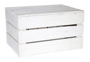 1x Truhe Couchtisch in weiß mit Deckel / NEU / 48x36x28 cm / leicht Decken, Zeitung, Bücher verstauen