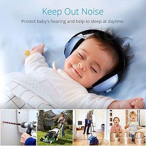 Baby-Gehörschutz, 0-10 Jahre, mit extra weichem Kopfbügel, Himmel Blau