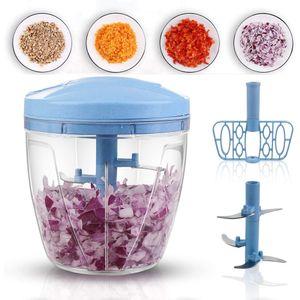 Tuiwewp Zerkleinerer Universalzerkleinerer Zwiebelschneider Multizerkleinerer Gemüsehobel Seilzug, 750 ml