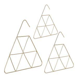 relaxdays 3x Schalbügel Gürtelbügel Accessoires Halter Tuchbügel Krawattenbügel Drahtbügel