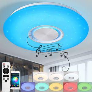 36W RGB Bluetooth Deckenleuchte LED Deckenlampe mit Bluetooth Lautsprecher APP-Steuerung / Fernbedienung