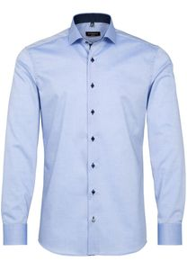 Eterna - Slim Fit - Bügelfreies Herren Langarm Hemd (67cm), Fein Oxford (8100 F132), Kragenweite:41, Farbe:Hellblau (12)
