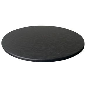 Round Table Cover Protector Wasserdichte runde Tischdecke für Dining Room Schwarz Modern Tischtuch Einfarbig 120cm max