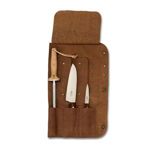 Windmühlenmesser Messerrolle 1 Plus Leder für 3 Teile (unbestückt)