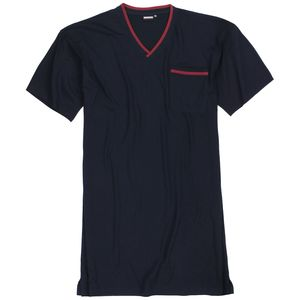 Nachthemd von Adamo Serie 'Bert' navy in Übergrößen 2XL - 10XL für Herren kurzarm, Größe:8XL