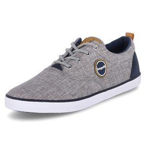 bugatti Herren Sneaker Leinenschuhe Textil grau 48