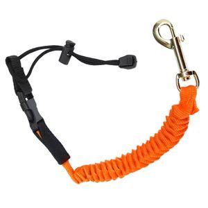 Paddelsicherung Sicherungsleine mit Karabiner und Schlaufe für Doppel- und Stechpaddel Farbe Orange