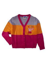 Peppa Wutz Pig Kinder Sweatjacke Strick-Jacke, Größe:122-128