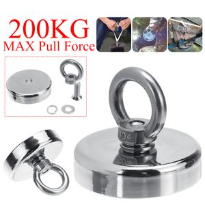 200KG 60mm Neodym Magnet Supermagnete Starke Magnet Scheibenmagnet Magnetangeln