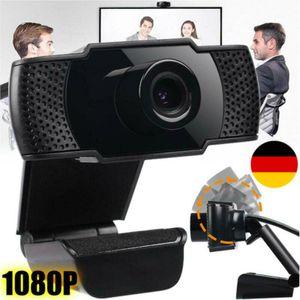 1080P Full HD Webcam USB 2.0 Kamera Videoanrufe für PC Laptop Desktop Haus Office Mit Mikrofon für Video Chat Aufzeichnung USB-Kamera Webkamera Computer Online-Kurs Computerkamera Eingebaute schallabsorbierende Laufwerksfreie
