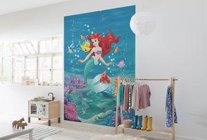 "Komar Fototapete ""Ariel Singing"", blau/grün/rot, 184 x 254 cm"