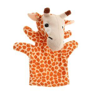 Niedliche Plüsch Wilde Zoo Tier Figur Handpuppe Plüschpuppe Spielzeug für Puppentheater & Rollenspiel Giraffe