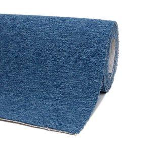 Teppichboden 200 x 300 cm Blau Auslegware Meterware Bodenbelag für den Privatbereich Schlingenware