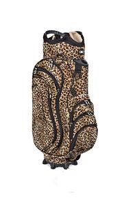 Golfbag / Cartbag, Leopardenmuster (Leobag), schwarz/braun, Leoparden-Optik Golf 36