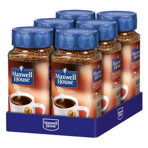 MAXWELL HOUSE Klassisch 6 x 200 g Gläser löslicher Kaffee Instantkaffee