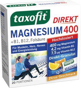Taxofit   Magnesium 400 +B1+B6+B12 + Folsäure 800   20 Portionen
