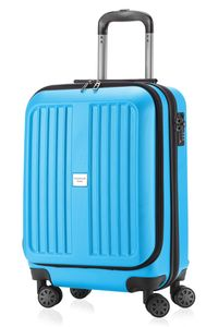 HAUPTSTADTKOFFER - X-Berg - Handgepäck + Laptopfach Koffer Trolley Hartschale, blau, 55 cm, 42 Liter