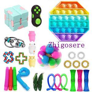 27 Stück / Set Fidget Sensory Toy POP it! Autismus Stressabbau Spielzeug