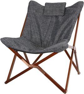 Schmetterlingsstuhl Stuhl Sessel Faltstuhl Regie Stuhl 73x85x98cm grau