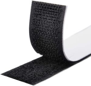 Klettband Selbstklebend 5M Extra Stark,Doppelseitig Klebende mit Klettverschluss 20mm Breit Selbstklebendes (Schwarz)