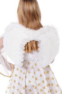 Feder-Flügel Engel weiß für Kinder Größe: ohne Attribut
