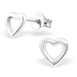Herz Ohrstecker: Silber Ohrringe für Damen und Kinder