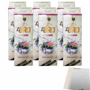 4Bro Ice Tea Purple Dream 6er Pack (6x1000ml Pack) + usy Block