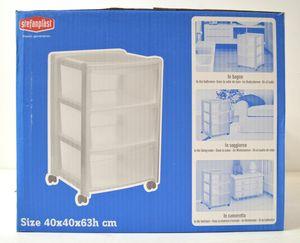 Stefanplast Schubladencontainer 3 Schubladen, Schubladenschrank, Schrank