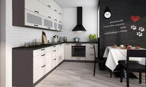 Küchenzeile Küche Einbauküche L-Form 310x210cm lava fino weiß