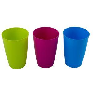 12 x bunte Becher aus Kunststoff Plastikbecher Campinggeschirr 200 ml