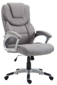 CLP Bürostuhl XL Texas V2 Stoff drehbar und stufenlos verstellbar, Farbe:grau