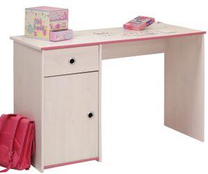 Schreibtisch Smoozy B 121 x 50 cm weiß mit 1x Schublade + 1 Schrank Jugend Kinderzimmer PC Computertisch Jugend Büro Kinderschreibtisch