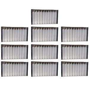 300er Set (10x30 Stk.)  Gebr. Steinhart Pyramidenkerzen, Weiss, HxB 7,5 x 1,4 cm