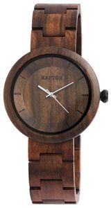 Raptor Uhr Holzuhr Damen Armbanduhr braun RA10171-002