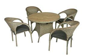 5-teilige Gartengruppe Tischgruppe Sitzgruppe Gartengarnitur Garnitur Tisch