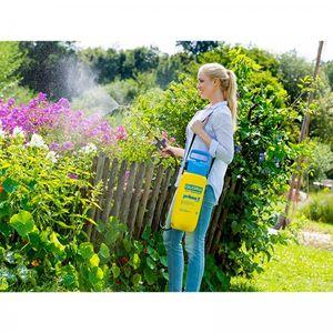 Gloria Prima 5 Drucksprüher 5 L mit Messing Lanze,Gurt,Sprühschirm & Einfülltrichter Unkraut Spritze