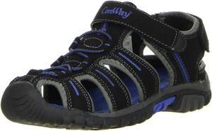 ConWay Damen Herren Trekkingsandalen schwarz, Größe:37, Farbe:Schwarz